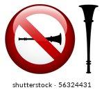 vector no vuvuzela mark | Shutterstock .eps vector #56324431