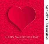 valentines day card with red... | Shutterstock .eps vector #563248591