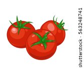 three red  ripe tomatoes on the ...   Shutterstock .eps vector #563248741