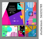 set of artistic colorful... | Shutterstock .eps vector #563252785