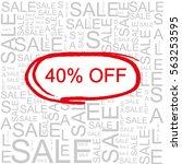 40  off sale word cloud ... | Shutterstock . vector #563253595