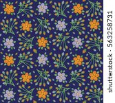 floral pattern  background ... | Shutterstock .eps vector #563258731