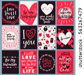 vector card set for valentines...