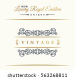 calligraphic luxury line logo.... | Shutterstock .eps vector #563268811