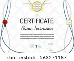 grey official certificate.... | Shutterstock .eps vector #563271187