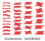 flat ribbon banners isolated on ... | Shutterstock .eps vector #563280301