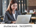 portrait of an professional...   Shutterstock . vector #563289991