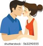 romantic illustration of... | Shutterstock .eps vector #563290555