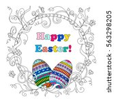 greeting card for easter day... | Shutterstock .eps vector #563298205
