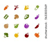 vegetable vector silhouette... | Shutterstock .eps vector #563303569