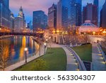 city of chicago. cityscape... | Shutterstock . vector #563304307