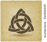 triquetra in circle old... | Shutterstock .eps vector #563306335