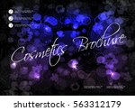vector black blue purple... | Shutterstock .eps vector #563312179