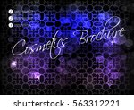 vector black blue purple... | Shutterstock .eps vector #563312221