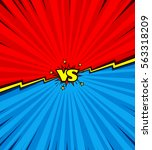 comic book versus background ... | Shutterstock .eps vector #563318209