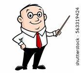 cartoon teacher   Shutterstock .eps vector #563319424