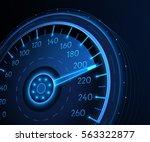 car speedometer. vector techo...
