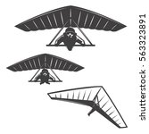 set of hang glider icons... | Shutterstock .eps vector #563323891