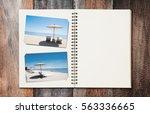 opened summer holiday journey... | Shutterstock . vector #563336665