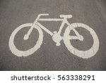 bicycle sign on the bicycle lane | Shutterstock . vector #563338291