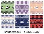 set of seamless vector...   Shutterstock .eps vector #563338609