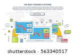 trade market. binary option.... | Shutterstock .eps vector #563340517