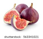Fresh Figs. Fruit With Half An...
