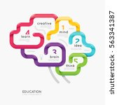 brain colorful line concept... | Shutterstock .eps vector #563341387