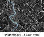 black and white vector city map ... | Shutterstock .eps vector #563344981