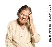 portrait of a senior woman... | Shutterstock . vector #563347861