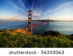 Golden Gate In Clear Blue Sky...