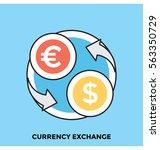 currency exchange vector icon | Shutterstock .eps vector #563350729
