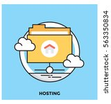 hosting vector icon | Shutterstock .eps vector #563350834
