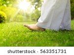 yoga relaxation. woman buddhist ... | Shutterstock . vector #563351731