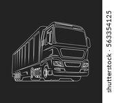 truck car cargo freight logo... | Shutterstock .eps vector #563354125