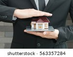 home insurance concept | Shutterstock . vector #563357284