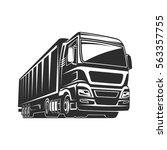 truck car cargo freight  | Shutterstock .eps vector #563357755
