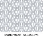 abstract pattern in arabian... | Shutterstock .eps vector #563358691