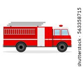 fire engine  fire engine icon ... | Shutterstock .eps vector #563358715