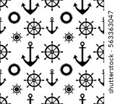 vector seamless pattern with...   Shutterstock .eps vector #563363047