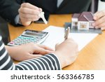 banks approve loans to buy... | Shutterstock . vector #563366785