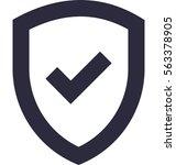 shield vector icon    Shutterstock .eps vector #563378905