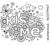 kiss me. vector abstract...   Shutterstock .eps vector #563379967