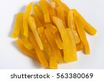 dehydrated papaya stick yellow... | Shutterstock . vector #563380069