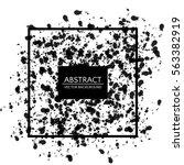 trendy design black chaotic...   Shutterstock .eps vector #563382919