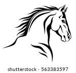 Stock vector horse head 563383597