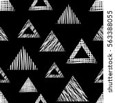 seamless vector geometrical... | Shutterstock .eps vector #563388055