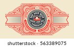 beer design for label and... | Shutterstock .eps vector #563389075