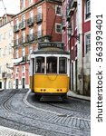 old tram in the streets of... | Shutterstock . vector #563393401