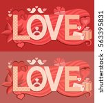 typography valentines day.... | Shutterstock .eps vector #563395831